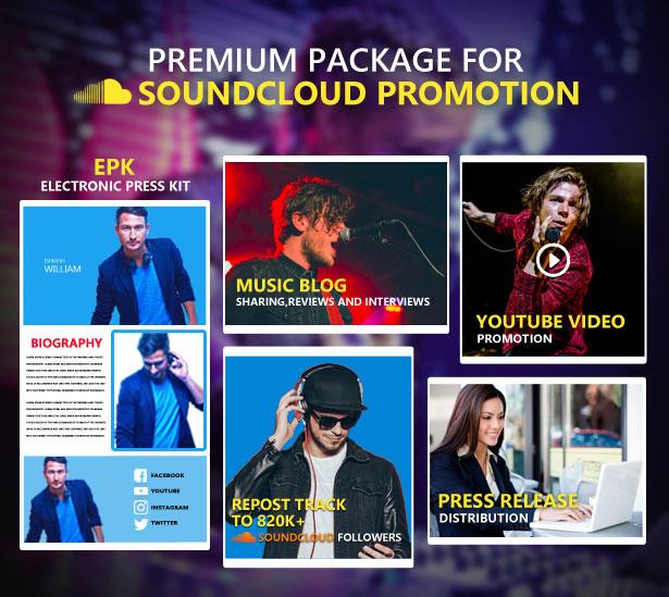 Premium Soundcloud Music Promotion Package | Music Promotion Club